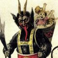 The Sinister Krampus Punishes Misbehaving Children Before Christmas