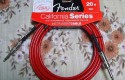 Fender instrument cable red 6m.20ft.new.