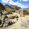 The ancient city of Vilkabamba in Peru